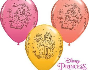 """Disney Beauty and the Beast 11"""" Balloons Latex Happy Birthday Party Kids Gift Favours Tableware Gifts Decorations"""