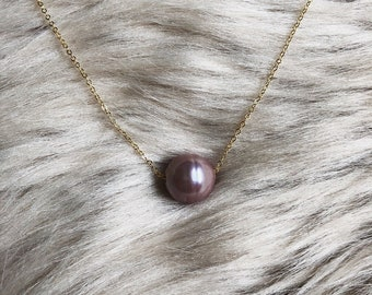 Floating Pearl  Necklace | Edison Pearl | 14k Gold Filled