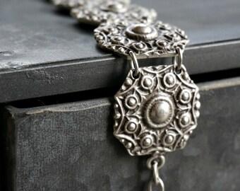 Nevin Silver Bracelet Tribal Bohemian Jewelry