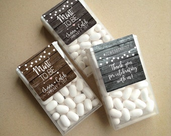 Wraparound Rustic Barn Wood & Lights Mint to Be Tic Tac Favor LABELS • Tic Tac Labels • Mint To Be • Mint to Be Favor Labels • Mints