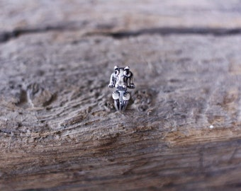 adjustable Hippo ring / silver antique +/ ajustable ring hippopotamus / Hippo / hippopotamus / animal /.