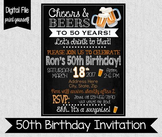 50th birthday party invitation any age digital adult stopboris Choice Image