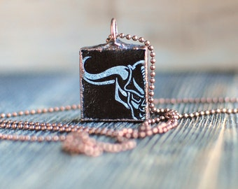 Stone Brewing Half Gargoyle Electroformed Copper Charm Necklace | Upcycled Craft Beer Bottle Jewelry