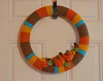 Crochet Autumn Wreath