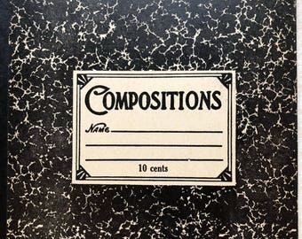 Vintage Marble Composition Book 40's