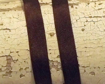 Silk Brown Silk Ribbon 1/4 inch 2 yards 100% silk