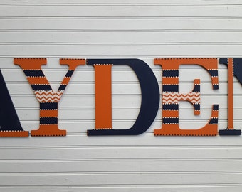 Large Wall Letters - Kids Name Letters - Painted Wall Letters - Nursery Letters - Boy Name - Girl Name - Baby Name Letters