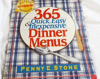 Vintage 365 Quick, Easy, and Inexpensive Dinner Menus Cookbook - Fast and Frugal Recipes for an Entire Year