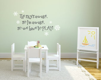 Captivating Frozen Wall Decal   The Skyu0027s Awake, So Letu0027s Play   Frozen Inspired Wall  Decal