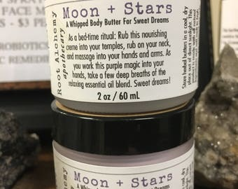 Moon + Stars: A Whipped Body Butter For Sweet Dreams; Magical Lavender Aromatherapy Sleepy Time Night Cream