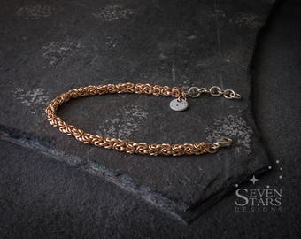 Rose Gold Fill Byzantine Bracelet