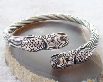TRIBAL FETISH solid and heavy antique cuff bangle