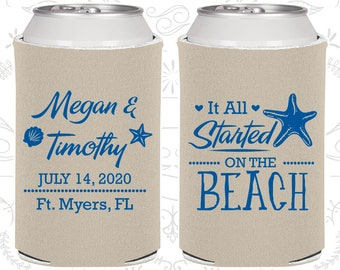 It all started on the beach, Wedding Reception, Beach Wedding, Tropical Wedding Favors, Starfish Wedding, Starfish Favors (413)