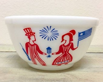 402 Sized Pyrex 4th of July Butterprint Decal ONLY - Bowl not included - Independence Day