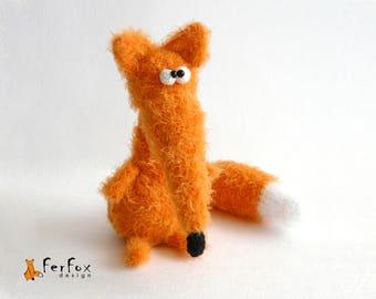 Stuffed fox figurine OOAK art doll Collectible animal figurine Fox soft sculpture Interior doll Stuffed animal Plush fox Woodland animal