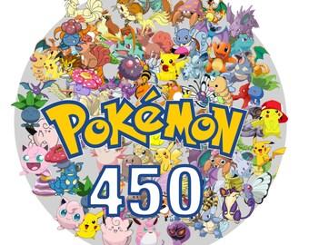 Pokemon 450 -Digital-ClipArt-JPG-image-Pokemon Heroes JPG Images-Digital Clip Art background-Pokemon Scrapbooking-Instant Digital