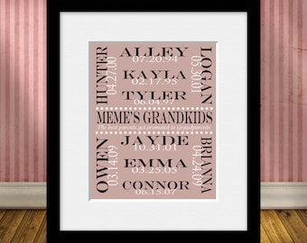 Grandparents Christmas Gift Personalized Grandparent Gift
