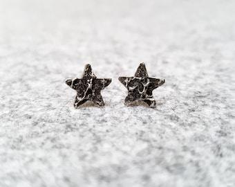 Star Earrings   Stud Earrings   Raw earrings   Minimalist Jewelry   Star jewelry   Unusual Earrings   Tiny Star Earrings   bridesmaids Gift