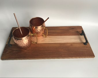 Maple and Red Oak Serving Tray