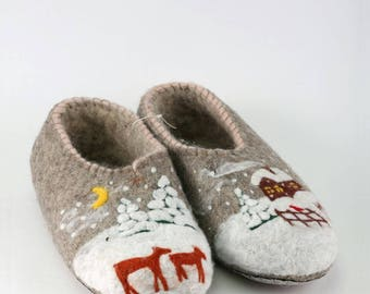 Felted shoes Valenki  Felted slippers Eco wool Home shoes Eco slippers Felted wool slippers Baby boots Made to order Handmade Wool shoes