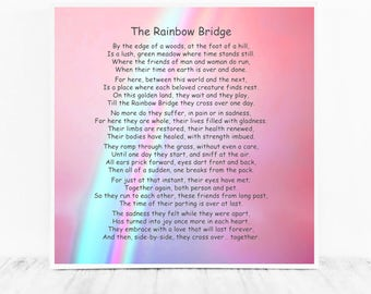 Breathtaking image regarding rainbow bridge poem printable version