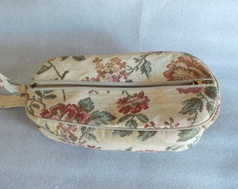 Vintage Tapestry Traveling Shoe Tote