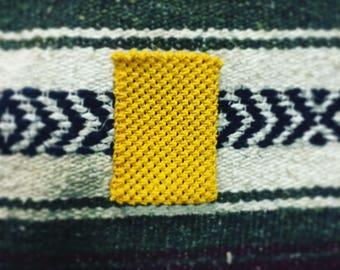 Yellow Hemp Macrame Wallet