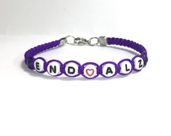 Alzheimer's Awareness Bracelet, END ALZ