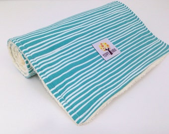 Burp Cloths, Emerald Stripes  - Set of 2