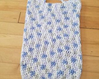 Lilac crochet tote bag