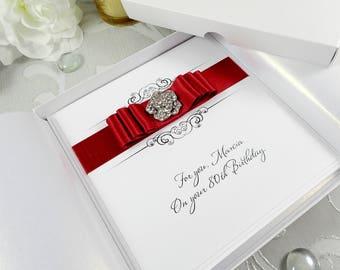 Boxed Birthday Card, Luxury Handmade Birthday Card, Personalised Birthday Card, 18th/21st/30th/40th/50th/60th/70th/80th/90th/ Birthday Card