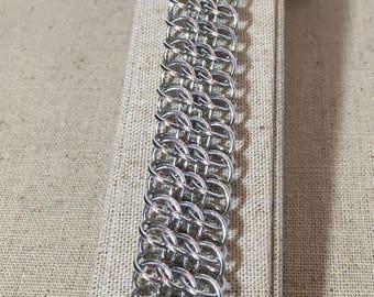 Aluminum CSG Weave Chainmaille Bracelet