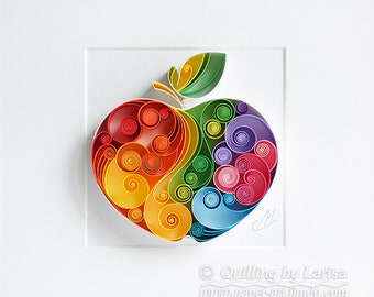 Quilling Paper Wall Art - The apple