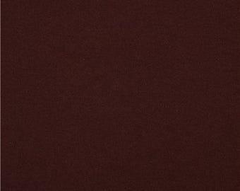 177712 solid brown Robert Kaufman knit fabric chocolate