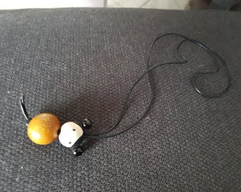 Little girl wood Bead Necklace