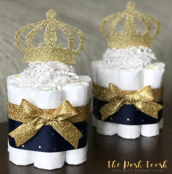 Prince Diaper Cake Toppers