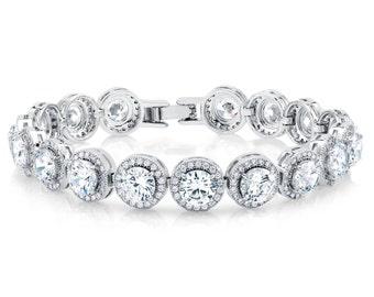Bridal Bracelet Wedding Bracelet Bridal Jewelry Crystal Bracelet Rhinestone Bracelet Bridesmaid Bracelet Cubic Zirconia Bridal Accessories