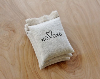 Rustic Bridal Shower Favors, Scent Sachet Lavender Bags, XOXO Wedding Favors