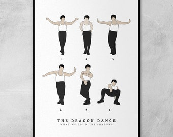 The Deacon Dance | What We Do In The Shadows | Minimal Artwork Poster