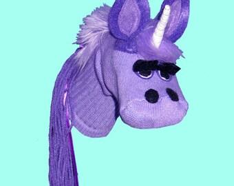 Handmade Toy Unicorn  Sock Puppet