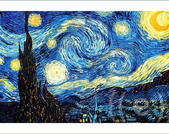 fabric panel - Vincent van Gogh (8) v.A. For sewing, patchwork, quilting.