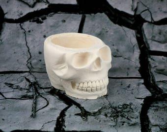 medium painting death skull head