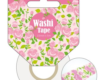 Washi Tapes - Flower prints - 15mm by 5m