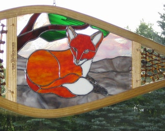 Red Fox Stained Glass Snowshoe