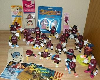 30 piece California Raisins HUGE LOT 1980s