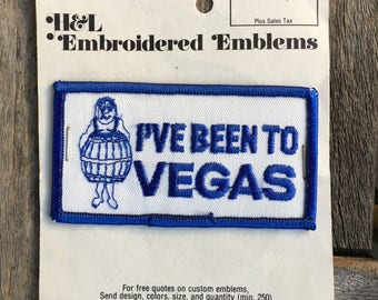 I've Been to Vegas Vintage Souvenir Travel Patch