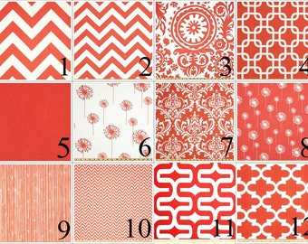 Coral Lumbar Pillow Cover - 12 x 16 Pillow Cover - 12 x 18 Inch Pillow Cover - Coral Lumbar Pillow - Pink Lumbar Pillow - Coral Pillows