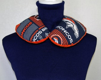 Corn Bag Microwavable Heating Pad Hot Pack Cold Pack Therapeutic Wrap Denver Broncos
