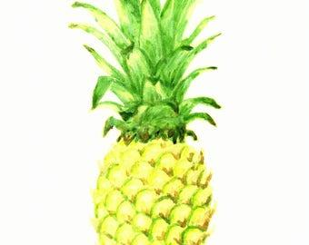 Pineapple Watercolor Art Print