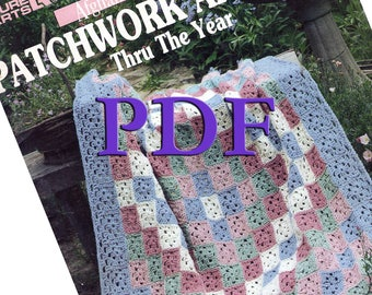 PDF - Patchwork Afghans Thru the Year, 1996, 12 designs
